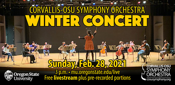 Ad for Corvallis-OSU Symphony Winter Concert